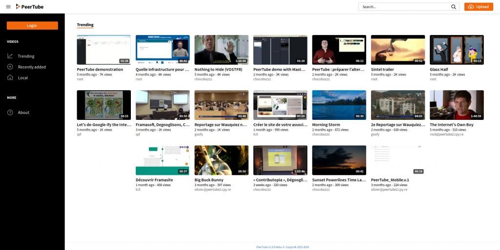 Peertube, une alternative open source youtube